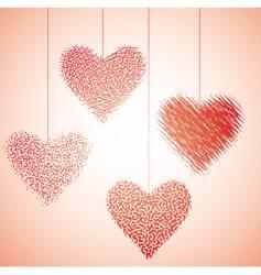 Valentine hearts vector image vector image