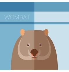 Wombat flat postcard vector