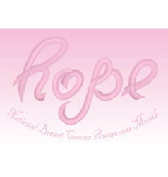National breast cancer awareness month vector