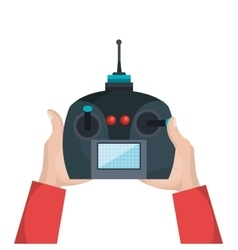 Cartoon hands with control drone isolated vector