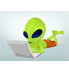 Cartoon character alien 031 vector