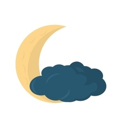 Moon climate night isolated icon vector