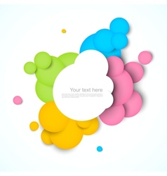 Colorful background with circles vector