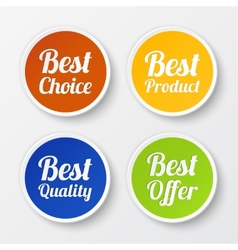 Set of promotional stickers labels vector