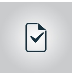 Document with check mark vector