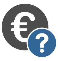 Euro status icon from business bicolor set vector