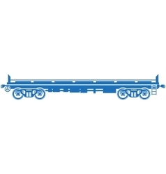 Open platform railway freight car - vector