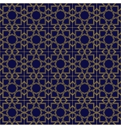 Abstract seamless patterns in islamic style vector