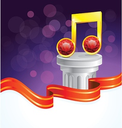 music note award - vector image
