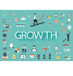 Growth flat icon vector