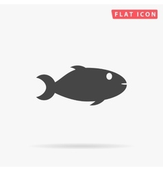 Fish simple flat icon vector