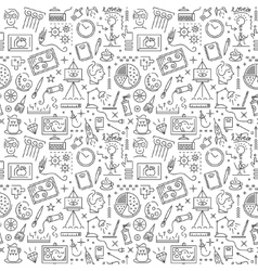 Art science - seamless background vector