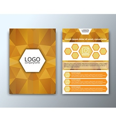 Template flyer with polygonal background vector