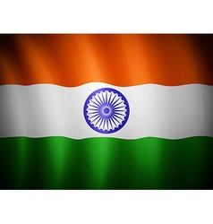 Indian flag blowing in the wind eps 10 vector