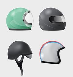 Helmet Head Isolate Design Set vector image