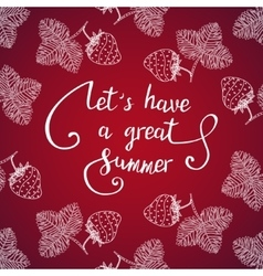 Let have a great summer vector