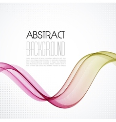Abstract smoky waves background template brochure vector