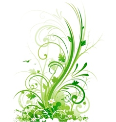 abstract spring design decoration vector image vector image