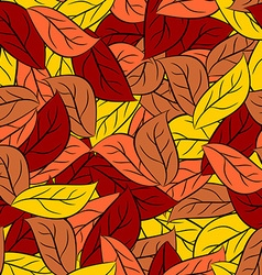 Autumn texture of leaves of trees seamless pattern vector image vector image
