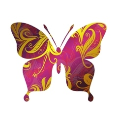 Butterfly ornamental tattoo vector