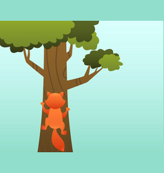 cat on the tree vector image vector image