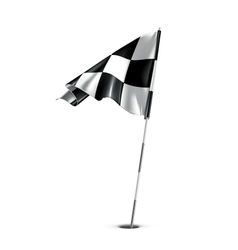 Checkered golf flag vector image vector image