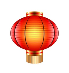 Chinese lantern isolated on white vector image vector image