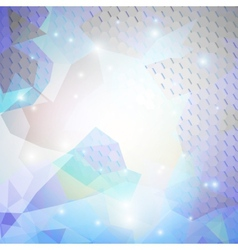 Colorful blue geometric background abstract vector image vector image