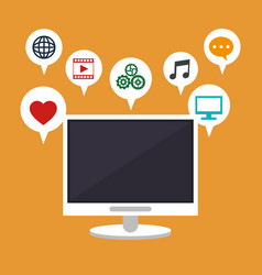 Computer technology social media apps vector