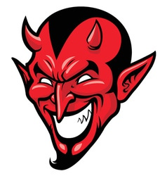 Devil head mascot vector