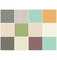 Different Seamless patterns Collection vector image vector image