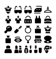 Fashion icons 7 vector