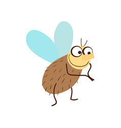 Funny fly cartoon vector