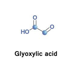 glyoxylic oxoacetic acid vector image vector image