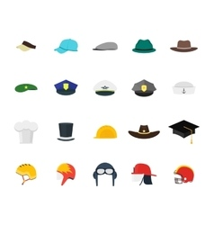 Hats Set Fashion for Men vector image