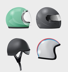 Helmet Head Isolate Design Set vector image vector image