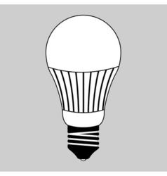 led light bulb vector image