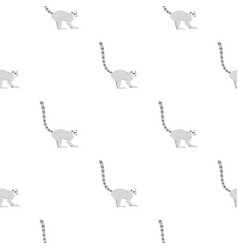 Lemur pattern seamless vector