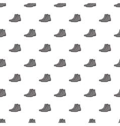 Men winter boot pattern cartoon style vector