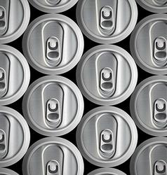 Metal cans Stock vector image vector image