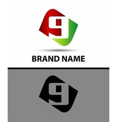 Number nine logo logo 9 vector
