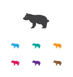 Of zoology symbol on grizzly vector