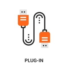 plug in icon vector image vector image