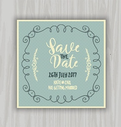 Save the date design vector image vector image