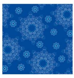 snowflake pattern vector image vector image