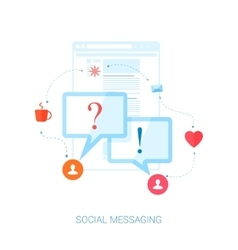 Social network messaging and personal vector
