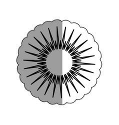 sun burst element icon vector image