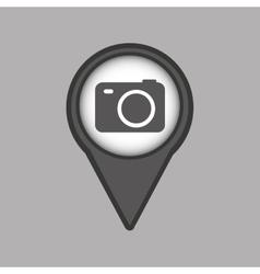 travel concept location map camera design graphic vector image
