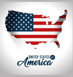 united states of america design vector image