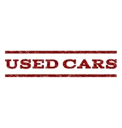 Used cars watermark stamp vector